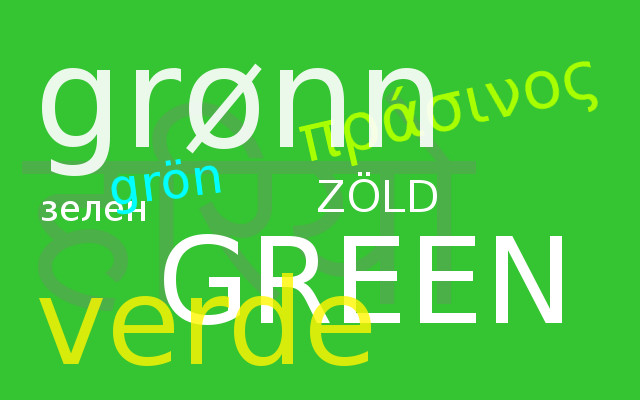 én zöld, te